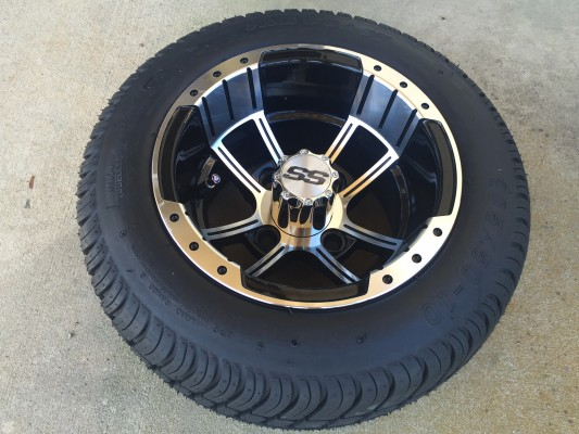 10 Inch Factory One Storm Trooper Tire and Wheel Combo Free Ship
