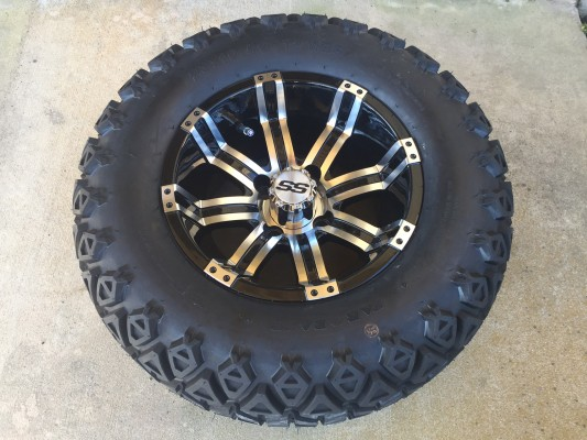 12 Inch Factory One Tempest Tire and Wheel Combo Free Ship