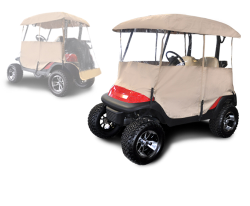 King of carts driving enclosure for Golf cart garage door prices