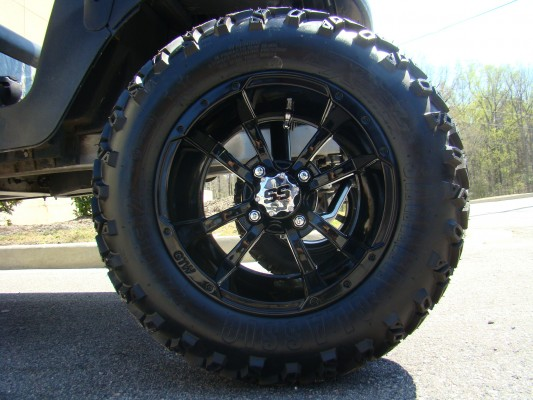 12 Inch Black Storm Trooper Wheel and All Terrain Tire Combo