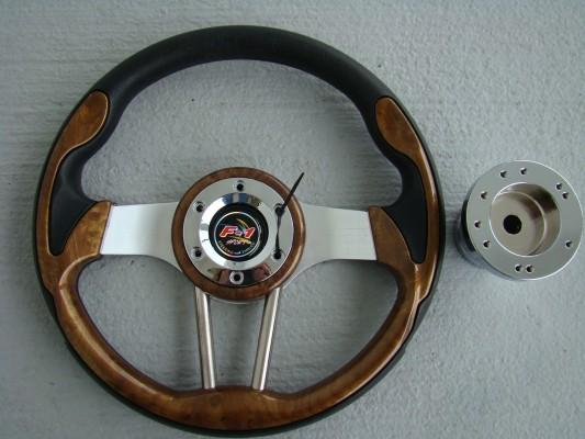 Steering Wheel Combo - 12.5 Pursuit - Wood Grain - Precedent