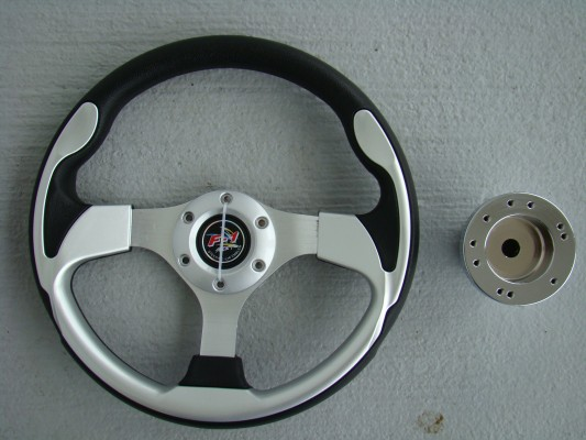Steering Wheel Combo - 12.5 Pursuit- Silver/Black - Precedent