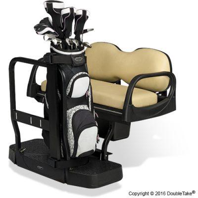 King of Carts Max5 Golf Bag Holder   Seat Kit Club Car Double Seat Golf Cart on golf golfers carts for handicapped, wagon seats, golf carts like trucks, golf hand carts, boat seats, motorized bike seats, golf cort, golf carts for disabled, golf buggy, golf seats folding, golf carts made in china, go kart seats,
