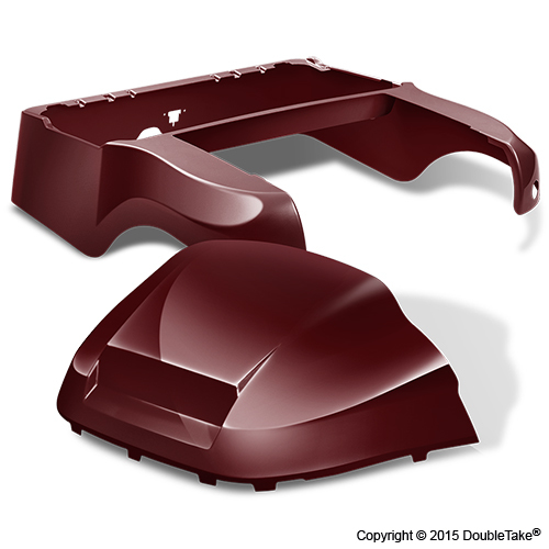 DoubleTake Club Car Precedent Body Kit Factory Style Burgundy
