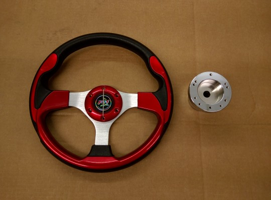 Steering Wheel Combo - 12.5 Pursuit - Red - Precedent