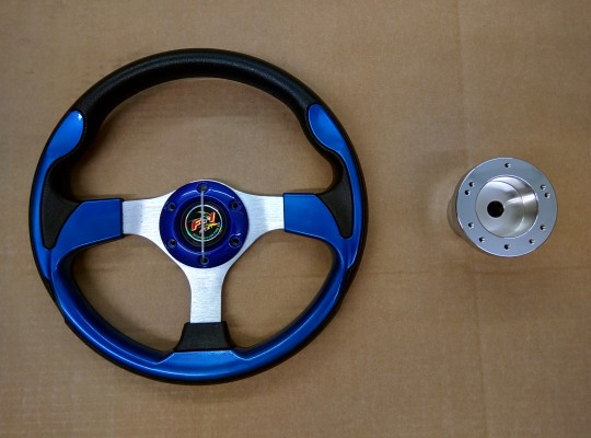 Steering Wheel Combo - 12.5 Pursuit- Blue - EZGO TXT
