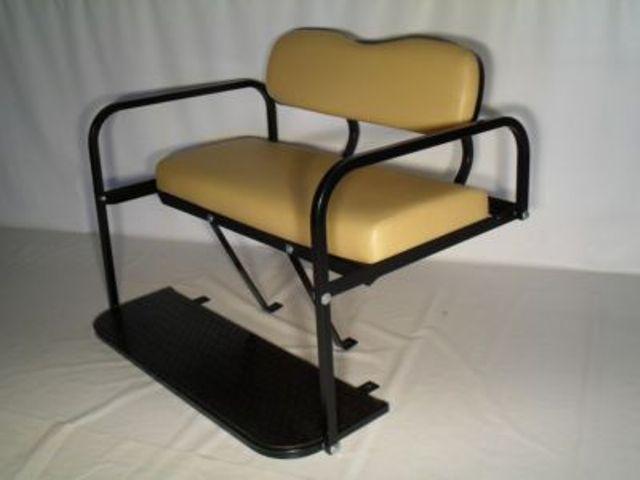 Yamaha Drive Golf Cart Folding Rear Seat - Beige