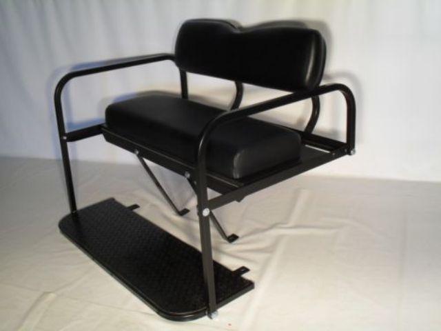 Yamaha Drive Golf Cart Folding Rear Seat - Black