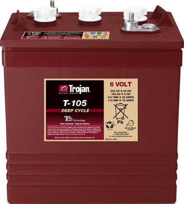 Trojan T-105 Golf Cart Batteries