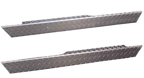 EZGO TXT Kick Plate Diamond Plate