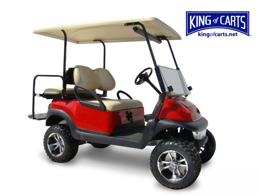 King of Carts Club Car Precedent - Gas Golf Cart Lifted - Red Red Lifted Golf Cart Burgandy on red ezgo golf cart, red dot enclosures golf cart, lifted ezgo golf cart, car wheels on lifted golf cart, red custom golf cart, red chevy golf cart, super lifted golf cart, red golf cart illustration, lifted yamaha golf cart, red jack up golf carts,
