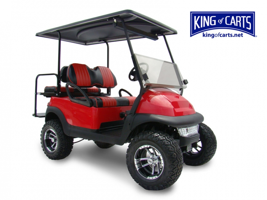 BEAST - Lifted - Red Golf Cart for Sale