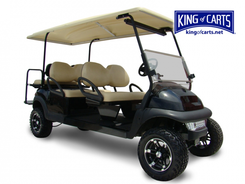 LIMO - Lifted - Black 6 Passenger Golf Cart