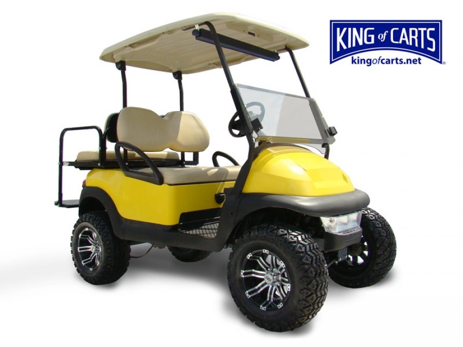 King Of Carts Club Car Precedent Lifted Limited Edition Yellow