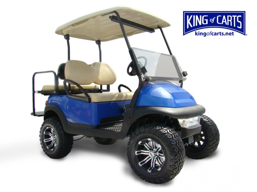 King of Carts Club Car Precedent - Lifted - Bright Blue Golf Cart Used Golf Cart Html on used heavy equipment, used parts, king of carts, club car utility carts, used campers, east coast custom carts, used excavators, everything carts, used auto, yamaha utility carts, used ez go electric cart, bad boy carts,