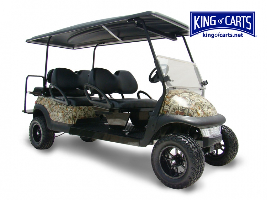 LIMO - Lifted - Camo 6 Passenger Golf Cart