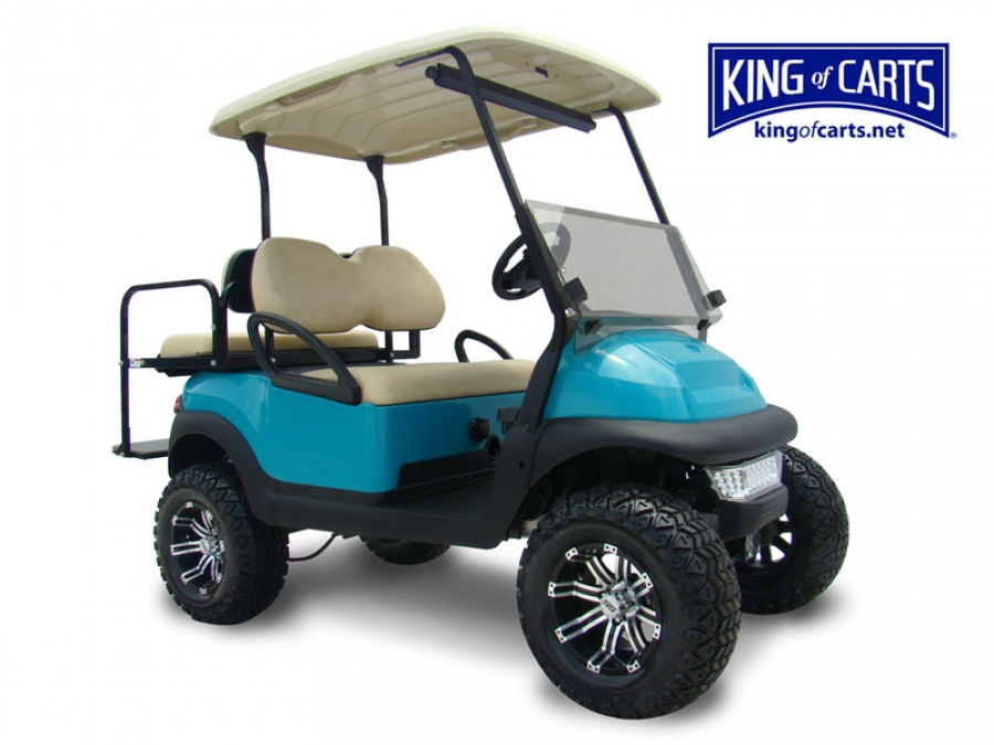 Build Your Own Golf Cart Kit >> King of Carts CLASSIC - Lifted - Limited Edition Teal Golf Cart